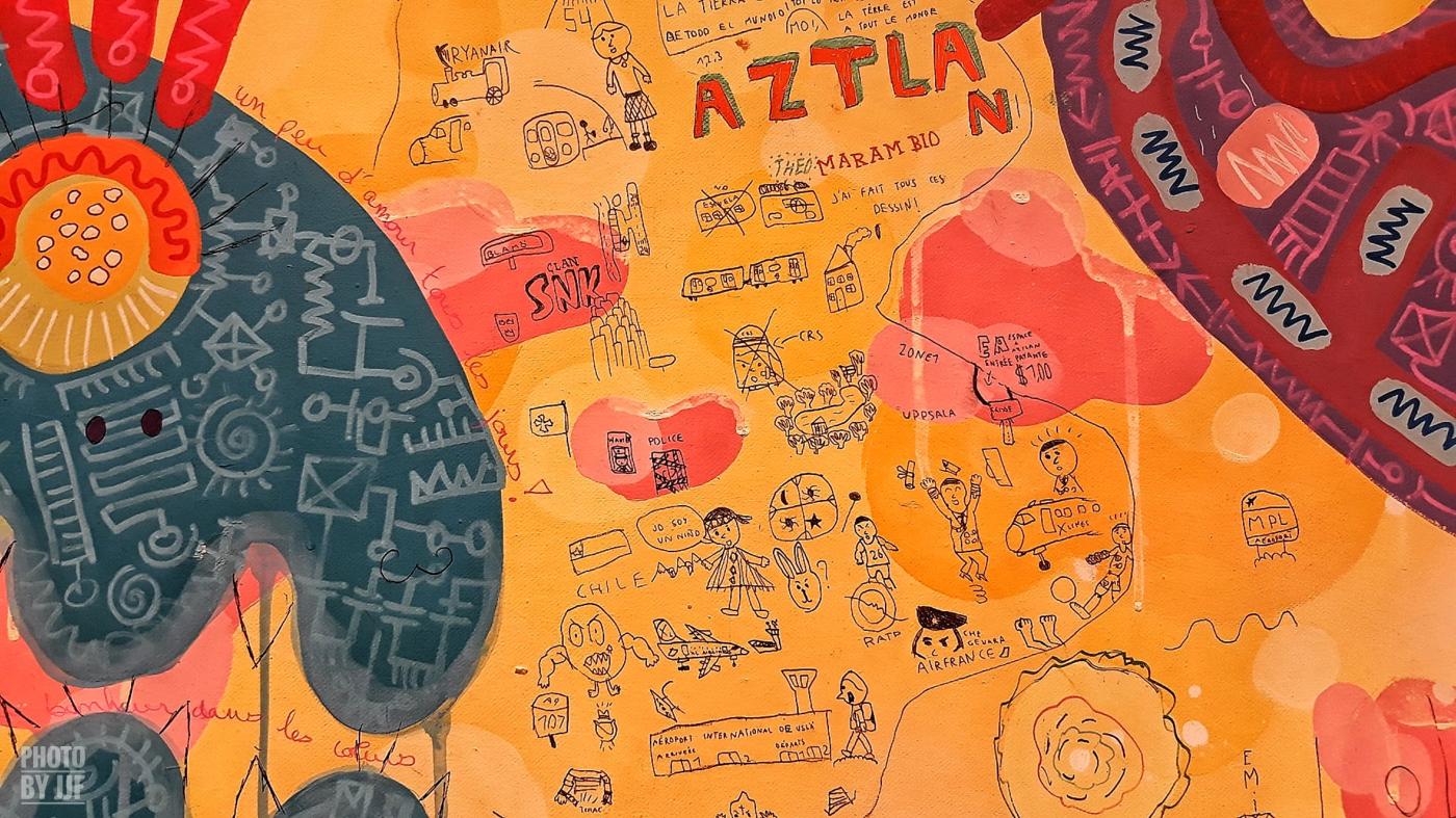 Dessins d'enfants sur les oeuvres de Yann Dumoget
